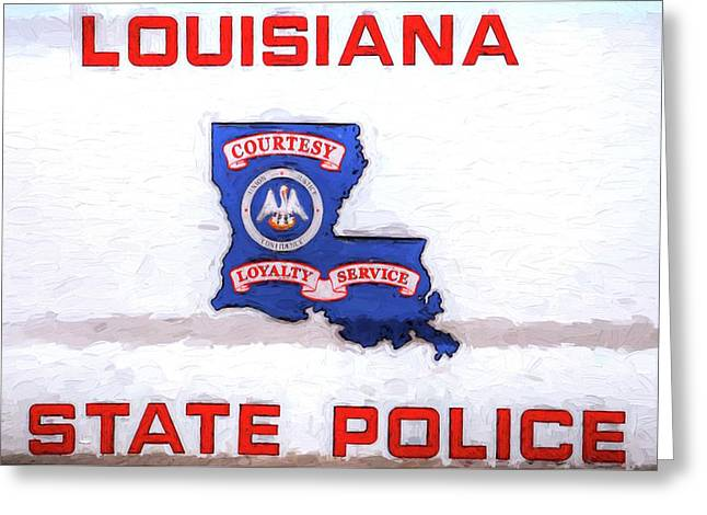 Louisiana State Police Greeting Card by JC Findley