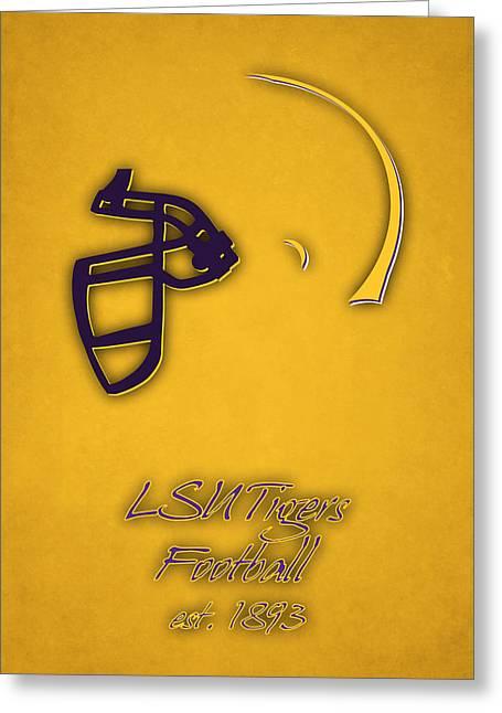 Louisiana State Tigers Helmet 2 Greeting Card by Joe Hamilton