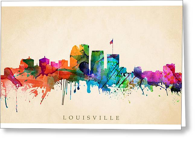 Louisville Cityscape  Greeting Card