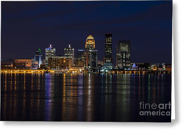 Greeting Card featuring the photograph Louisville Skyline by Andrea Silies