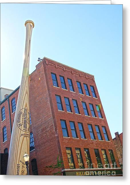 Louisville Slugger Museum Greeting Card by Nur Roy