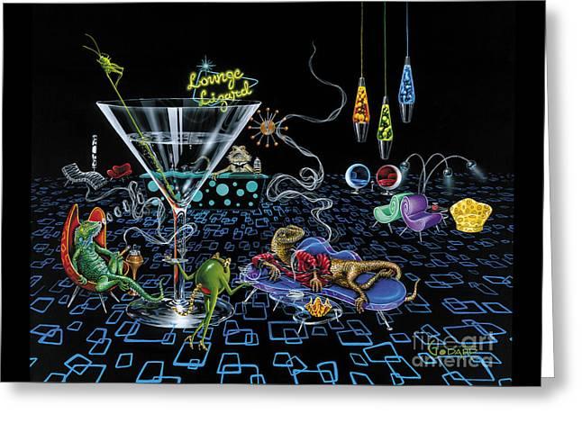 Lounge Lizard Greeting Card