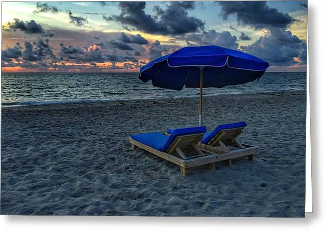 Lounging By The Sea Greeting Card