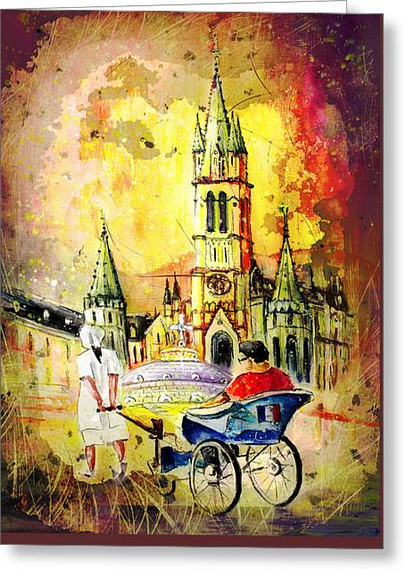 Lourdes Authentic Madness Greeting Card by Miki De Goodaboom
