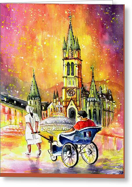 Lourdes Authentic Greeting Card by Miki De Goodaboom