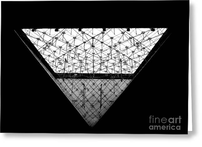 Lourve Pyramid Greeting Card by Amar Sheow