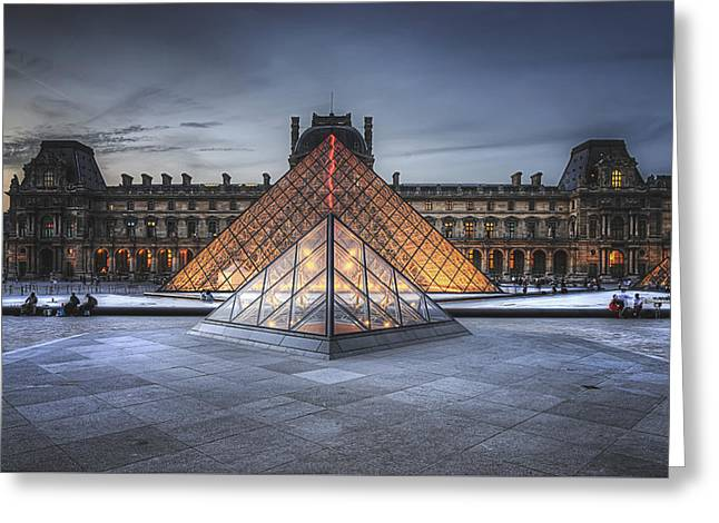 Louvre At Dusk Greeting Card