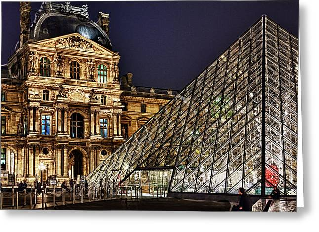 Louvre By Night I Greeting Card