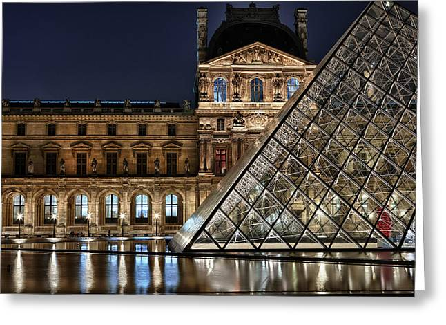 Louvre By Night II Greeting Card