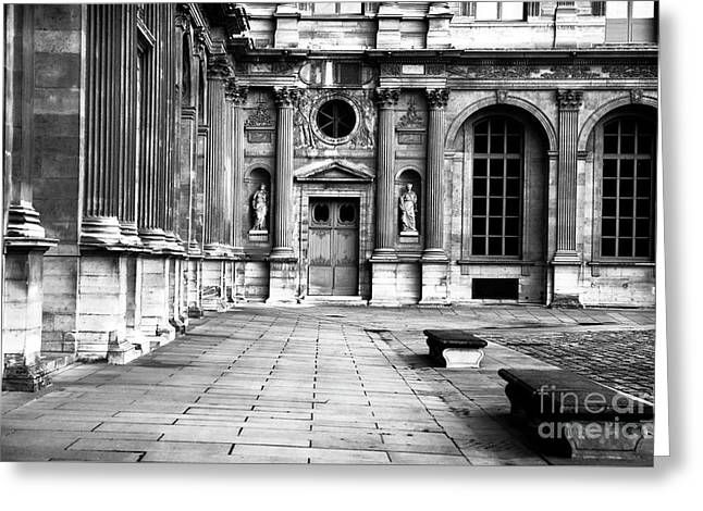 Louvre Courtyard Greeting Card