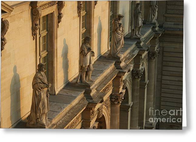 Louvre Exterior Greeting Card by Christine Jepsen