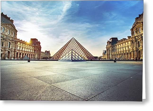 Louvre Museum Greeting Card by Ivan Vukelic