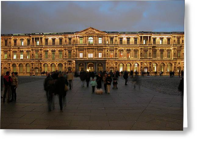 Greeting Card featuring the photograph Louvre Palace, Cour Carree by Mark Czerniec