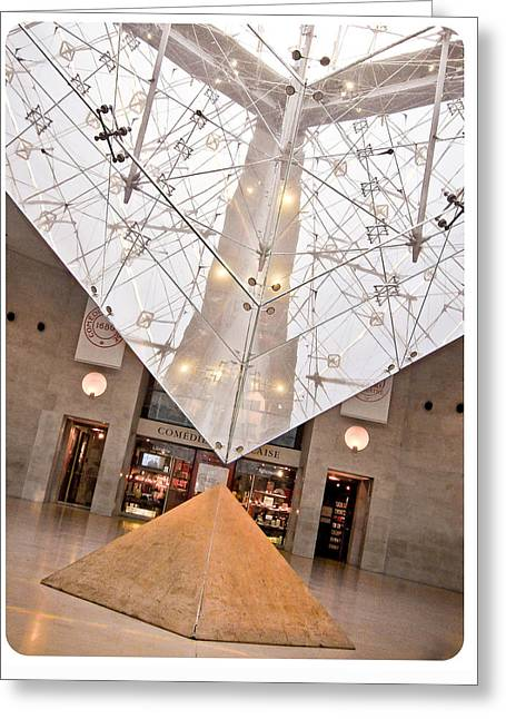 Greeting Card featuring the photograph Louvre Pyramid by Silvia Bruno