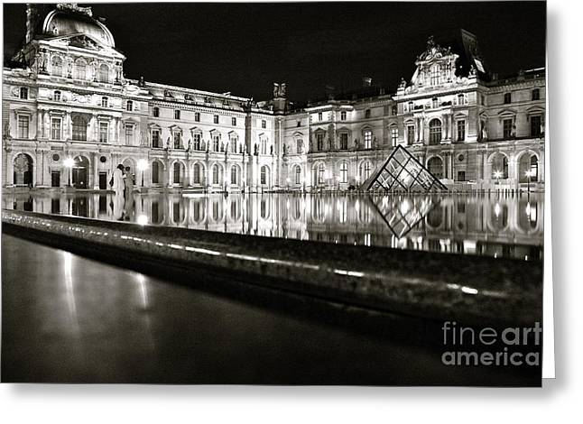 Louvre Reflections Greeting Card