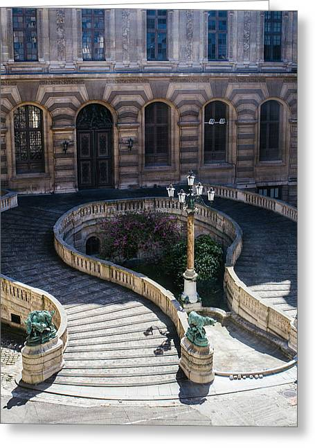 Louvre Staircase Greeting Card by Pati Photography