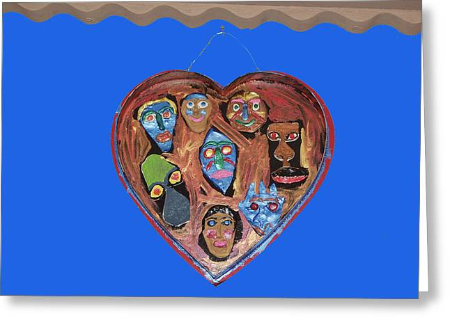 Lovable Funny Faces Greeting Card by Betty  Roberts