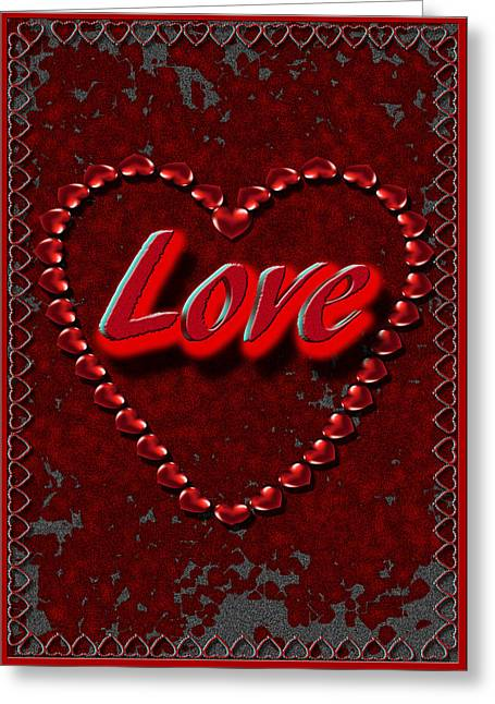 Greeting Card featuring the digital art Love 101 by Michelle Audas