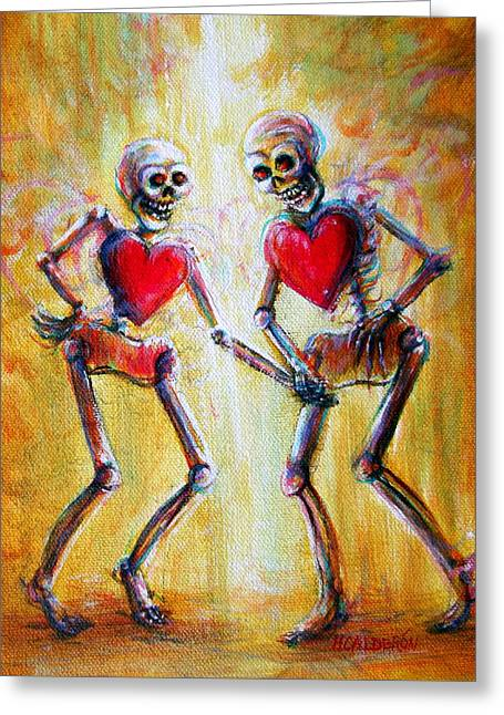 Greeting Card featuring the painting Love 2 Love by Heather Calderon