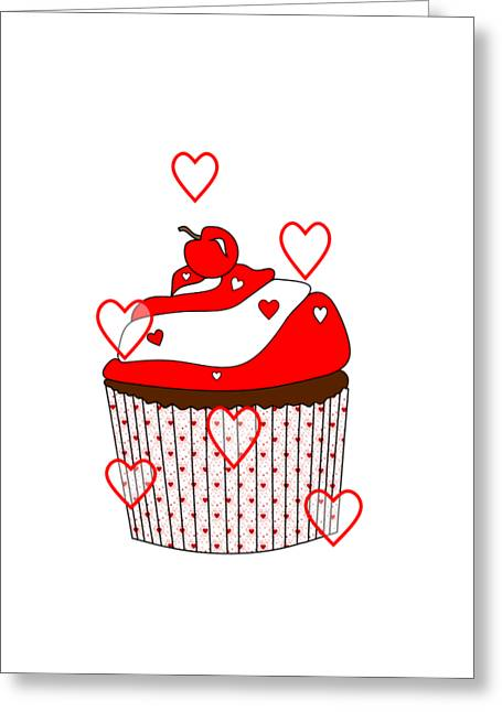 Love And Cupcakes Greeting Card