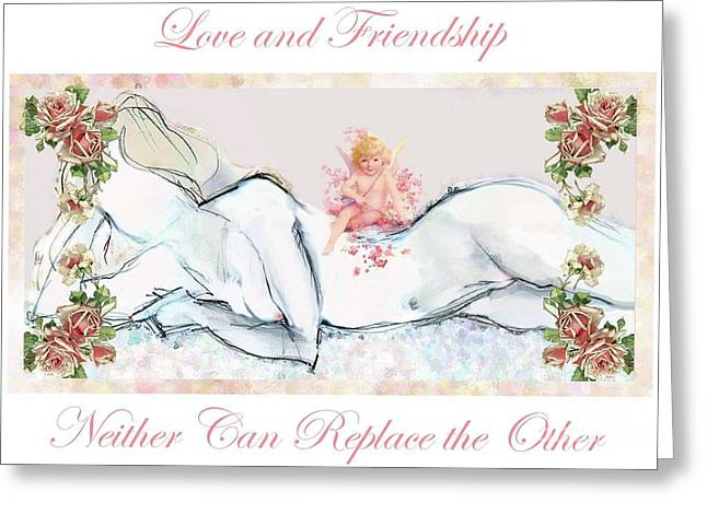Love And Friendship - Valentine Card Greeting Card by Carolyn Weltman