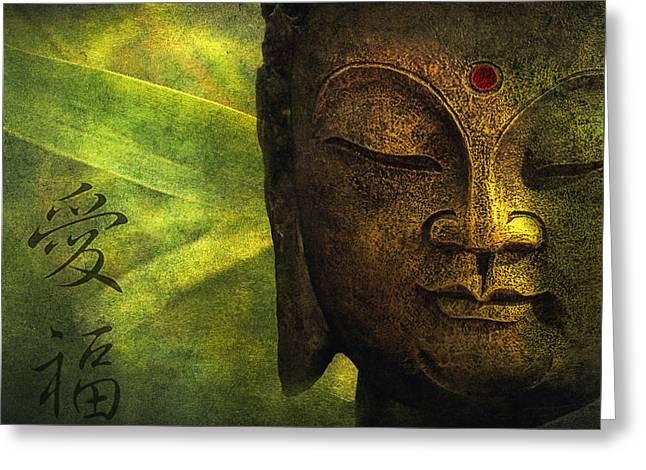 Green Bamboo Greeting Cards - Love And Happiness Greeting Card by Joachim G Pinkawa