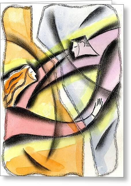 Love And Liberty Greeting Card by Leon Zernitsky