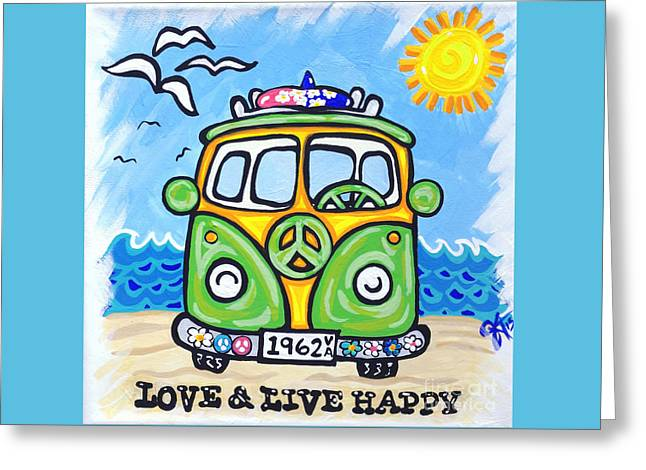 Love And Live Happy Greeting Card