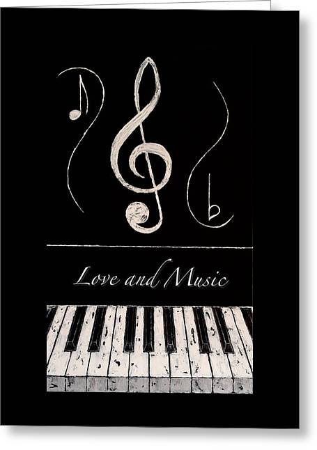 Love And Music Greeting Card