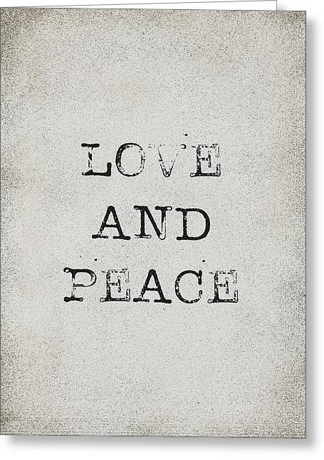 Love And Peace Greeting Card