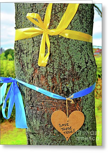 Love And Protect Our Trees Greeting Card