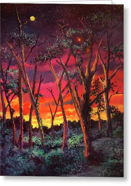 Love And The Evening Star Greeting Card