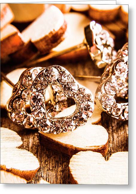 Love And The Jewellery Store Greeting Card