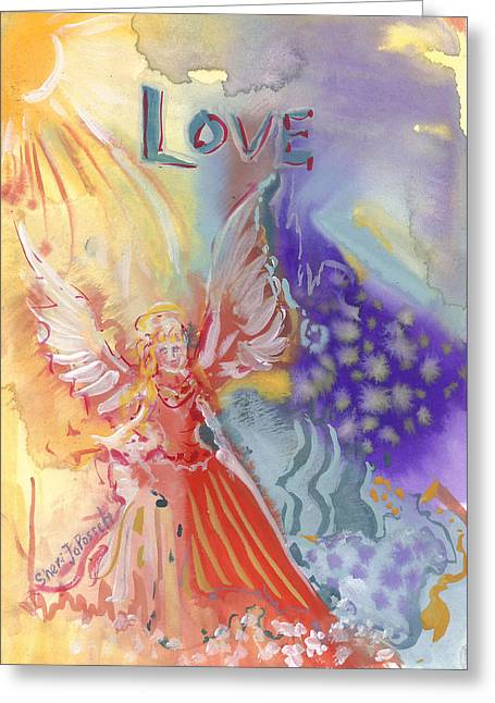 Love Angel Greeting Card