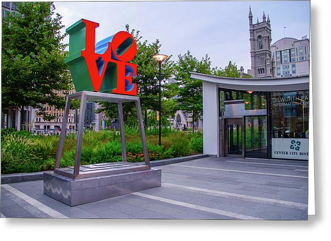Greeting Card featuring the photograph Love At Dilworth Plaza - Philadelphia by Bill Cannon