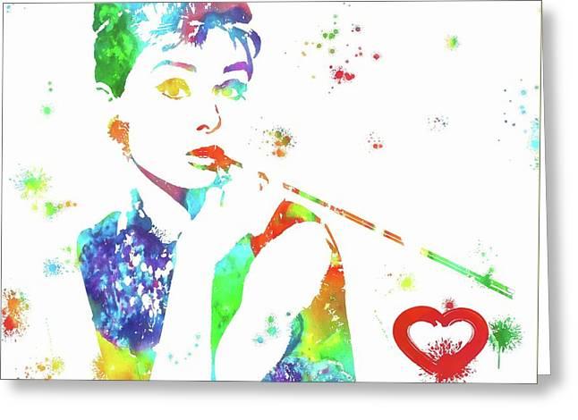 Love Audrey Hepburn Greeting Card by Dan Sproul
