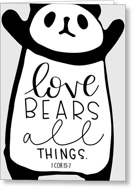 Love Bears All Things Greeting Card