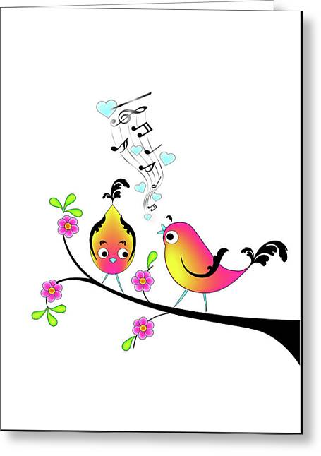 Love Bird Serenade Greeting Card