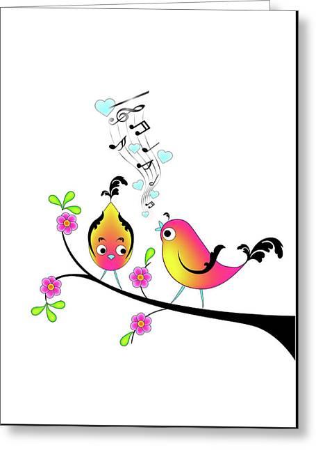 Love Bird Serenade Greeting Card