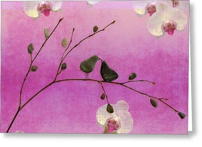 Love Birds Greeting Card by Andrea Kollo