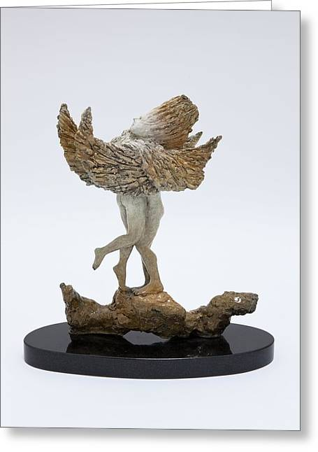 African Sculptures Greeting Cards - Love Birds Greeting Card by Ione Citrin