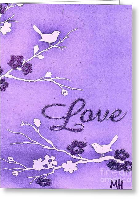 Love Birds Greeting Card by Marsha Heiken