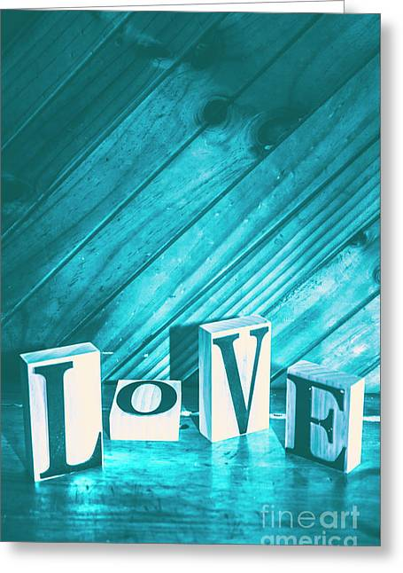 Love Blues Greeting Card