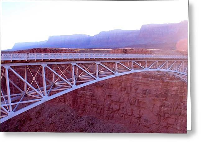 Love Bridges Any Gap Greeting Card by Elizabeth Sullivan