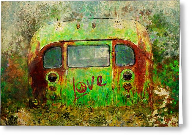 Love Bus Greeting Card