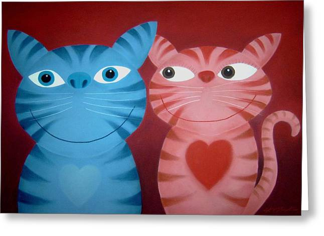 Love Catz Greeting Card