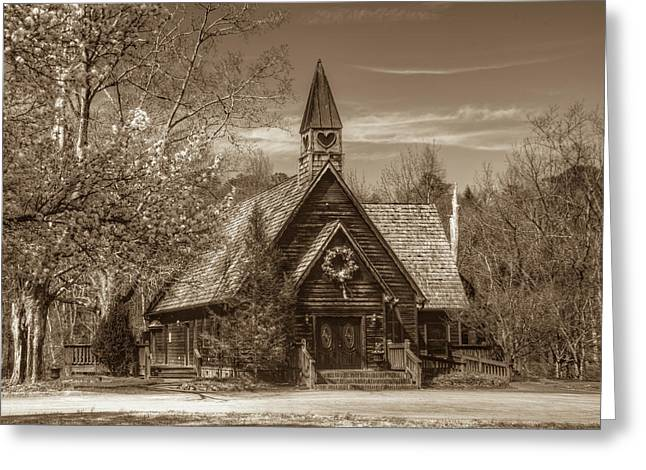 Love Chapel In Sepia Greeting Card