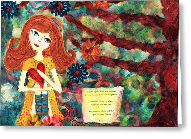 Love Creates Art Greeting Card