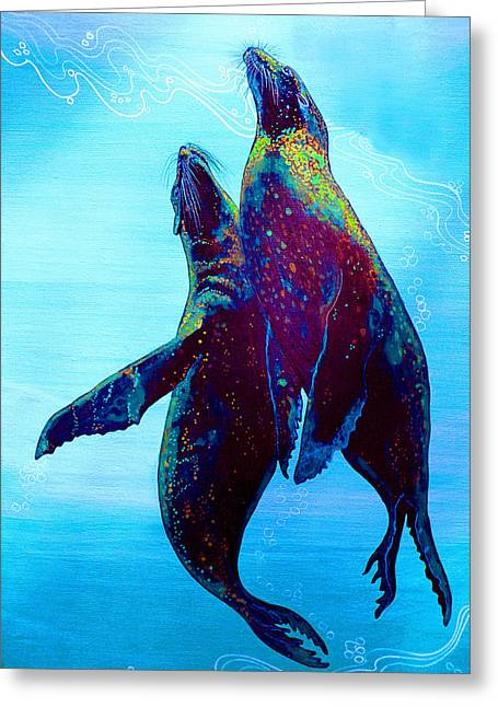 Greeting Card featuring the painting Pure Love by Debbie Chamberlin