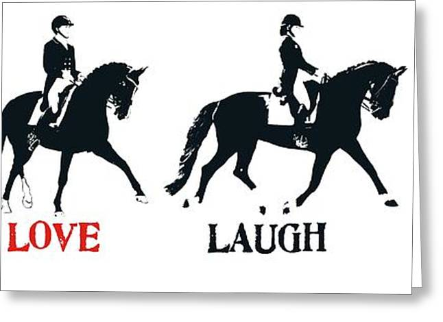 Greeting Card featuring the photograph Love Dressage by Dressage Design